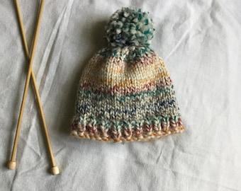 Chunky Knit del bebé sombrero   gorro de bebé tejidos a mano   bebé de la 77b130920d8