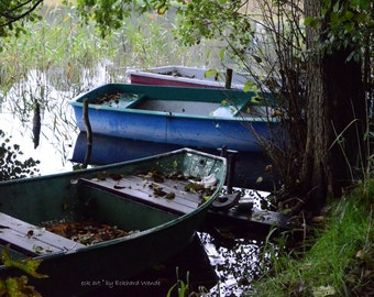 Water boat Lake pond shore rest silence decelerated