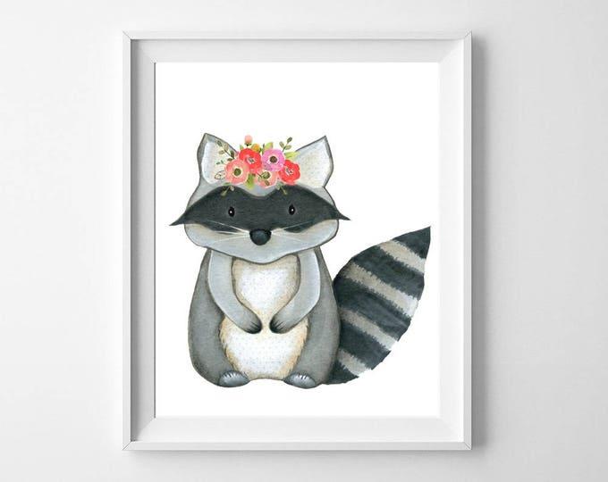 Racoon, Racoon Art, Racoon Nursery Decor, Racoon Print, Racoon Wall Art, top selling items, Racoon Photo, Woodland Racoon, Racoon Baby, Art