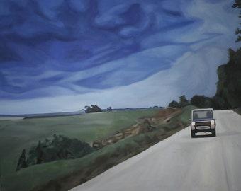 "Twister Original Oil Painting 24x28"""
