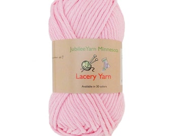 Lacery Yarn 100g - 2 Skeins - 100% Cotton - Primrose Pink - Color 305