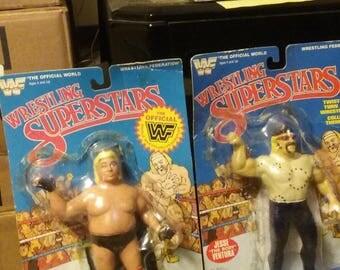 WWF LJN East-West Connection tag team-Adonis & Ventura(Custom Packaged)figures