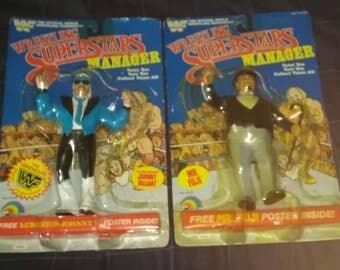 WWF LJN Lucious Johnny V. & Mister Fuji(Custom Packaged)figures