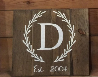 Customized wooden sign