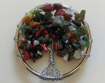 Mixed Stone Tree of Life Pendant