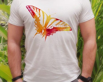 Cool t-shirt Butterfly - Colorful tee - Fashion men's apparel - Colorful printed tee - Gift Idea