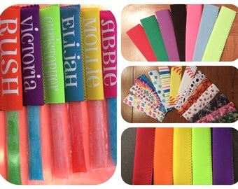 Personalized ice pop holders