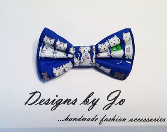 Boys Bow Tie, Blue Bow Tie, Cat Bow Tie, Kitty Bow Tie, Bar Mitzvah Bow Tie, Wedding Bow Tie, Blue Tie for Men, Baby Bow Tie B452
