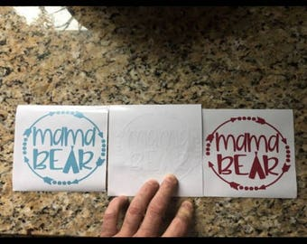 MAMA BEAR Vinyl Decals