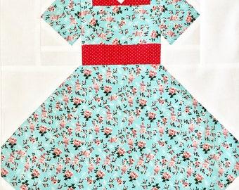 Vintage Dress Quilt Block