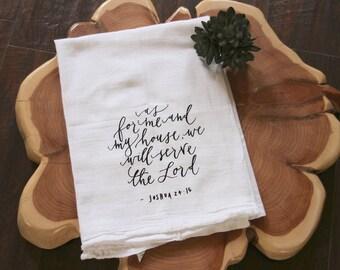 Bible Verse Kitchen Towel - Joshua 24:15