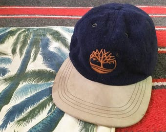 90s Timberland Wool X Leather Strapback Hat