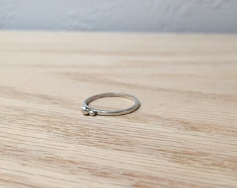 Sterling Silver Ring No. 9 - Stackable - Geometric - Modern - Handmade
