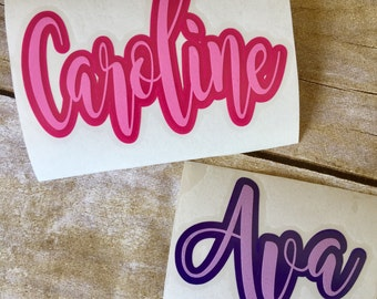 Vinyl decal / Vinyl sticker / Monogram decal / Two tone decal / Yeti decal / Yeti sticker / Window decal / Yeti cup decal/personalized decal