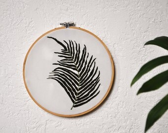 Embroidery Hoop Art, Floral Embroidery, Botanical Embroidery, Handmade Wall Decor, Home Decor