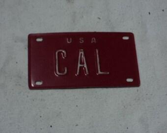 Vintage Bicycle Name plate CAL