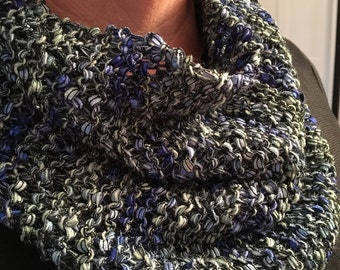 Chunky knit cowl neck warmer