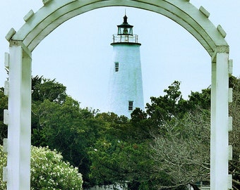 Ocracoke Lighthouse under Arbor Outerbanks North Carolina - Canvas Gallery Wrap