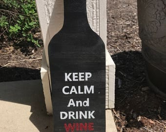 Wine bottle -keep calm and drink wine
