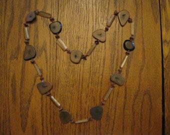 Vintage Southwest Native American Petrified Wood Necklace Jewelry