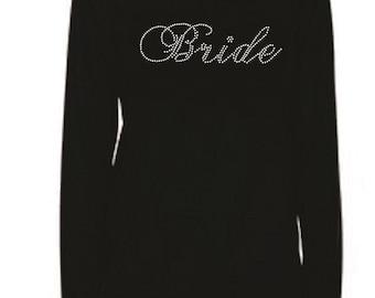 Rhinestone Bride Bling Lightweight T-Shirt                                            XJOG