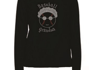 Rhinestone Baseball Grandma  Lightweight T-Shirt                               D0OT