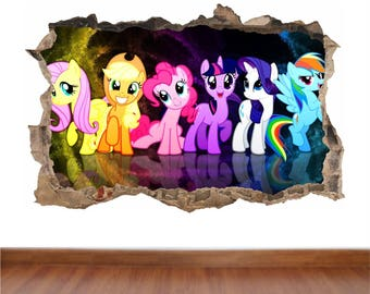 My Little Pony Hole In The Wall Full Colour Sticker Decal Kids Boys Girls  Poster Part 48