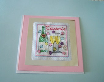 Cross Stitch Card - Celebrate