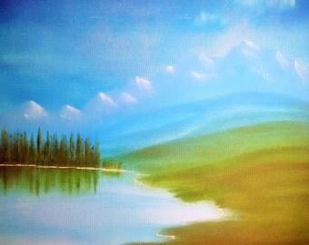 Original Landscape Oil Painting #3 by Laszlo Musho