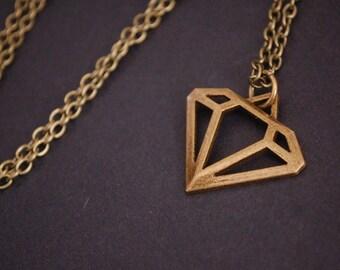 bronze tone diamond necklace