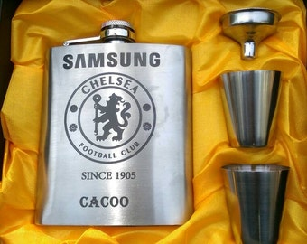 Chelsea FC // Gift for Him // Funny Flask // Hip Flask for Men // Gent Birthday Gift // 7 oz