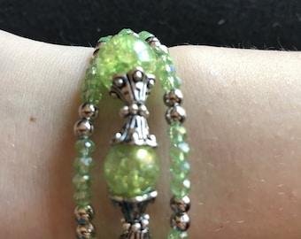 Green Triple-Strand Bracelet