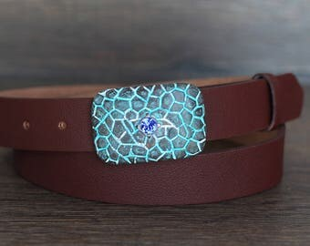 Leather Belt, Brown Leather Belt, Chestnut Brown Leather Belt, Womens Belt, Fashion Belt
