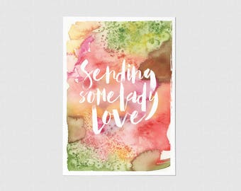 Sending Some Lady Love Greeting Card