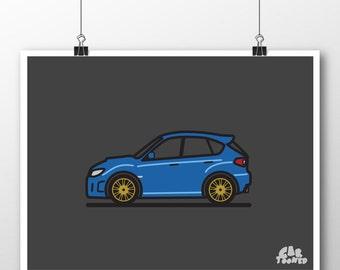 2011-14 Toy Subaru WRX Hatchback Poster