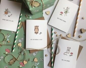 Woodland Themed Birthday Cards