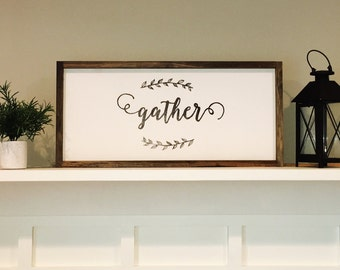 Solid Pine Gather Sign