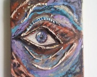 Third eye,spiritual abstract painting
