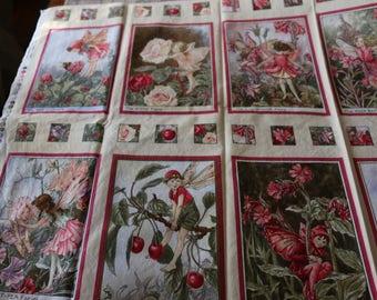 17 Blossom Fairies Panel Flower Fairies by Cicely Mary Barker