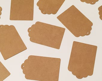 Set of 20 Craft Paper Gift Tags  Die Cut
