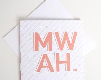 Greeting Card - Mini / Mwah
