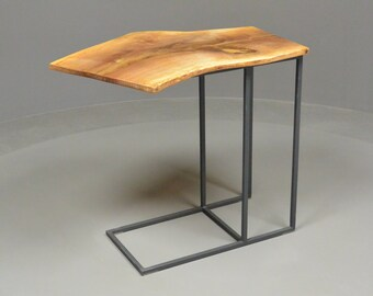 small table, extra iron and Walnut solid tablet, console