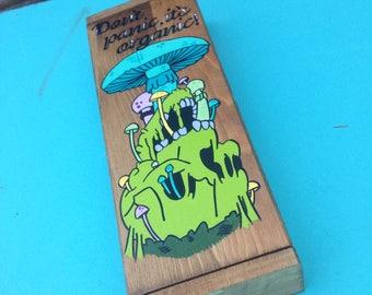 Woodbox to hide stash