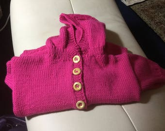 Baby all in one suit in luxury cashmere mix wool