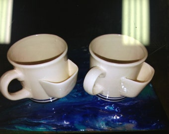 Two Chadwick Miller 1984 Tea Mugs with pouch