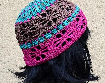 Crochet beret gourmet