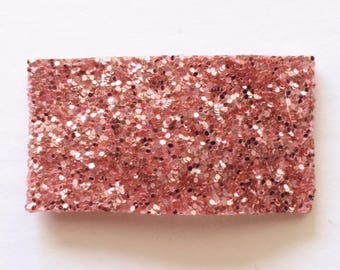 Pink diamond glitter snap clip AND/OR alligator clip