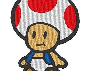 Toad embroidered patch