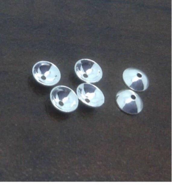Basket Weaving Supplies Toronto : Sterling silver mm bead caps jewelry making supply diy