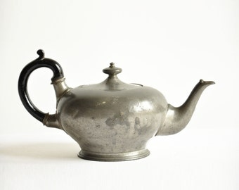 Victorian Era Pewter Teapot - Atkin Brothers Sheffield